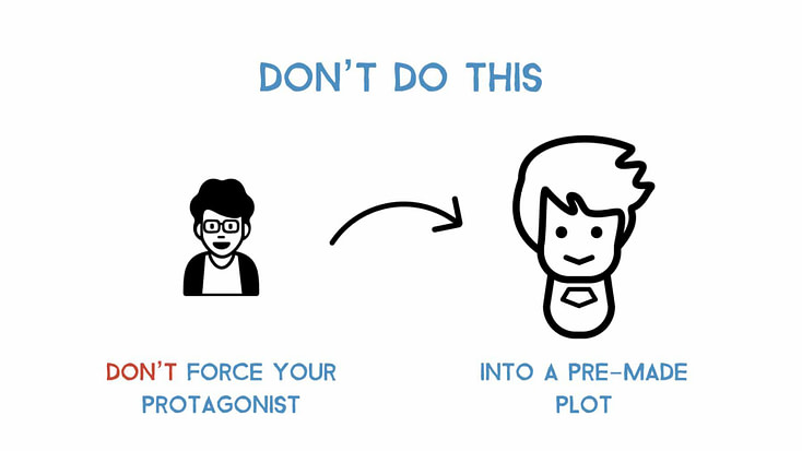 don't force your protagonist into a pre-made plot